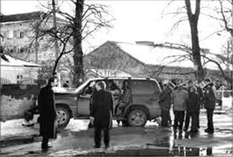На месте убийства Владимира Олийныка
