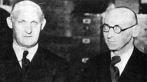 Слева: Исаак Зингер и Зигфрид Газенфранц