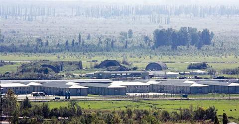 Грузинская военная база, на месте которой в 1980-е базировался 176-й авиаполк