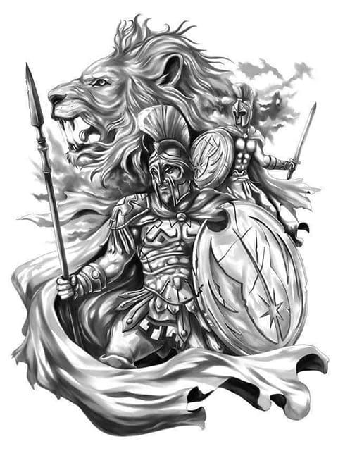 Эскиз для гладиаторской тату