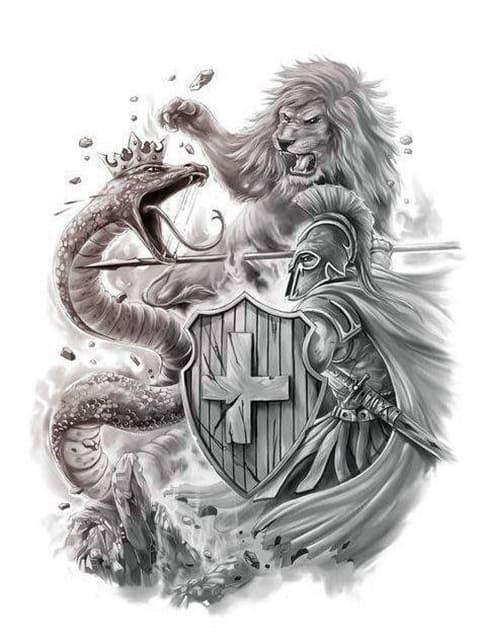 Эскиз для гладиаторской татуировки