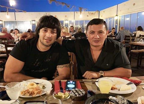 Слева: авторитет Хан Ахмедлинский и вор в законе Надир Салифов (Лоту Гули)