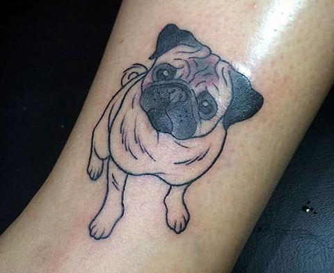 Татуировка мопс