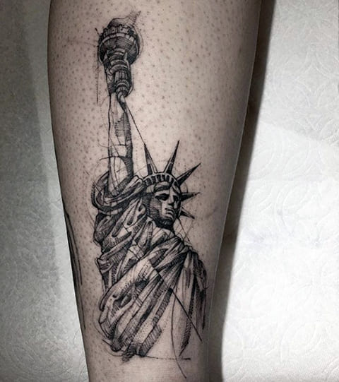 Тату Статуя Свободы
