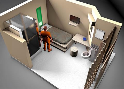 3D-модель камеры в тюрьме во Флоренсе
