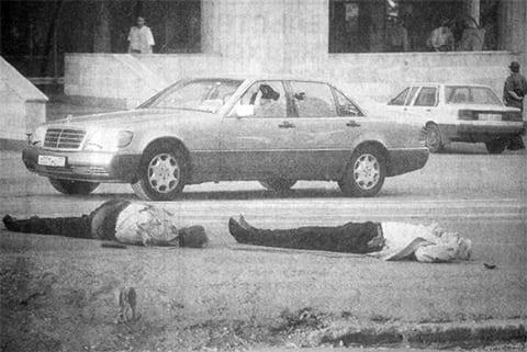 На месте убийства Анатолия Гусева и Александра Быкова