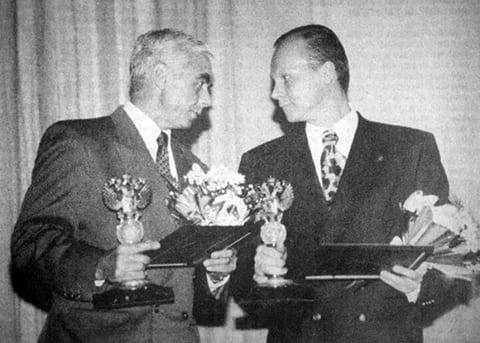 Справа: Анатолий Гусев