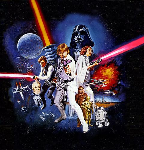 """Постер к фильму """"Звёздные войны"""" (1977)"""