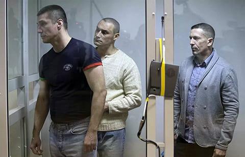 Слева: Алексей Пронин, Михаил Ищенко и Виталий Антишин