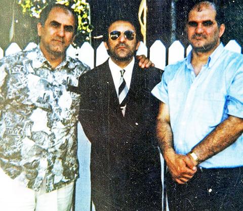 Слева: Слева: Анзор Мамедов и воры в законе Кароглы Мамедов и Мириан Мамедов