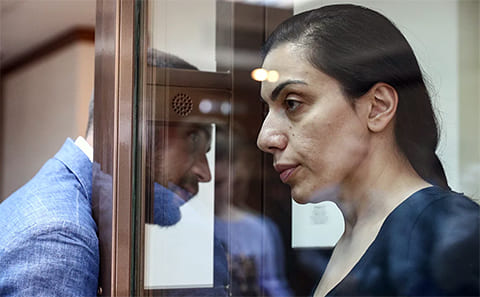 Карина Цуркан в суде