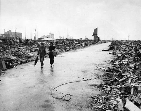 Нагасаки после ядерного взрыва