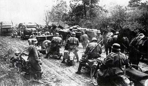 Наступление фашистов в 1941 году