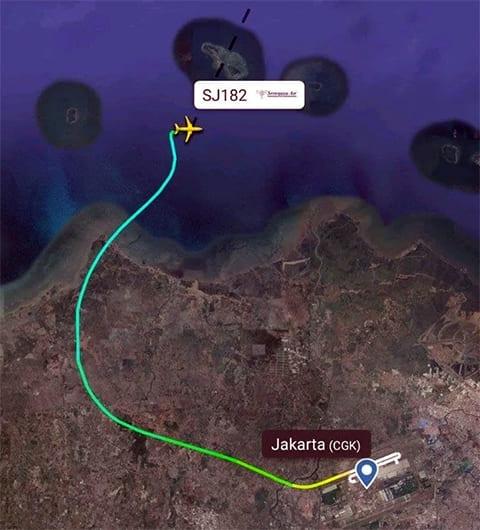 Место крушения самолета Boeing 737-500 на карте