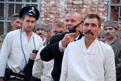 """На съемках сериала """"Котовский"""""""