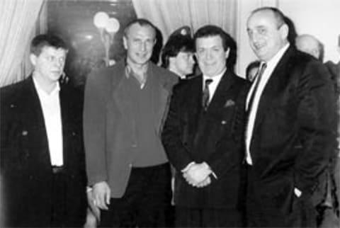 Второй слева: Виктор Куливар, Иосиф Кобзон и Отари Квантришвили