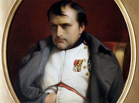 Наполеон Бонапарт после отречения во дворце Фонтенбло. Деларош (1845)