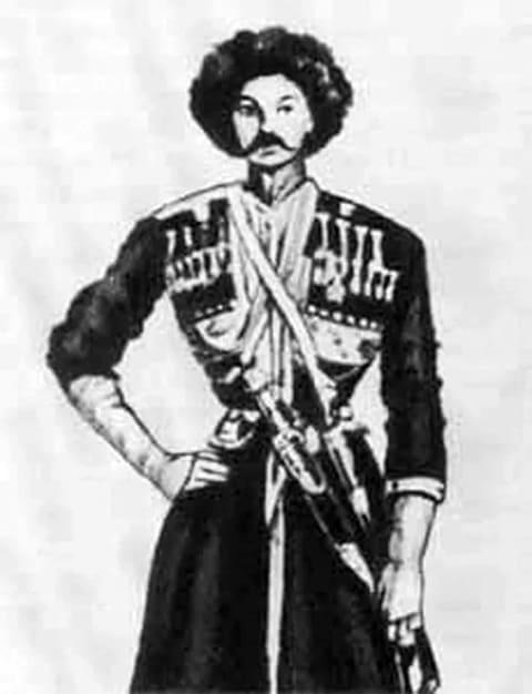 Мартынов в черкесском костюме