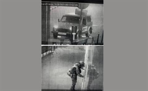 Нападение на отделение полиции в городе Лиски