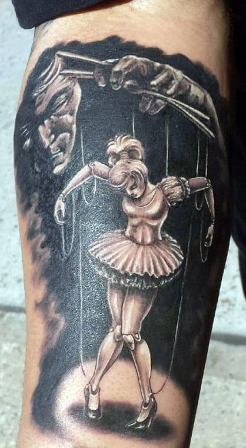 Татуировка кукловод и марионетка