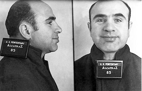 Тюремное фото Аль Капоне