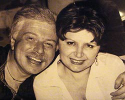 Бадри Патаркацишвили и Инна Гудавадзе. 1999 год. Фото из семейного архива Инны Гудавадзе