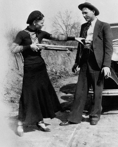 Бонни и Клайд, 1932г (ФОТО)