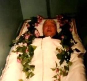 Гроб с телом Рузляева