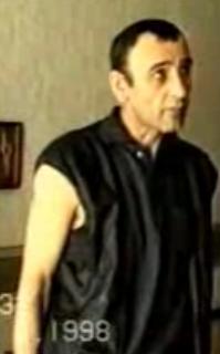 Николай Капущу даёт показания на следственном эксперименте