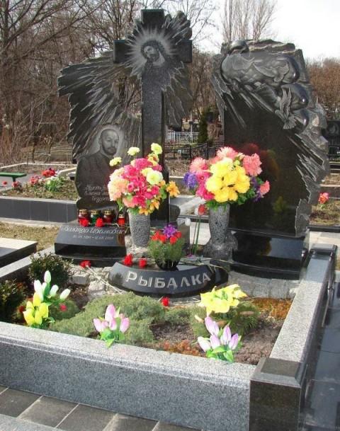 Могила криминального авторитета Рыбалко Виктора Ивановича (Рыбка)