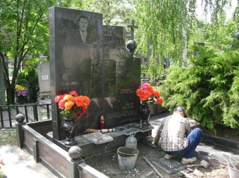 Могила криминального авторитета Александра Мильченко (Матрос)