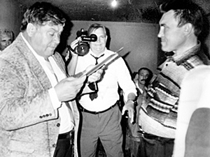 Борис Евтеевич Москвич (слева) яростно боролся с бандитами