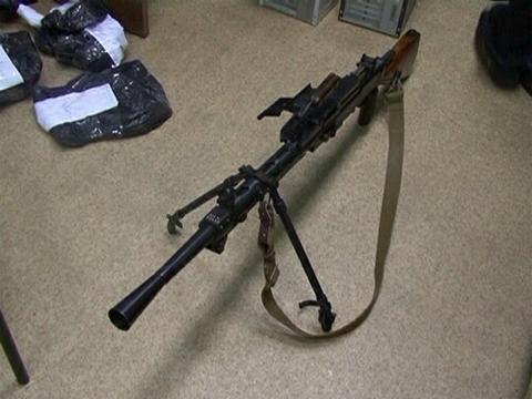 Пулемет, обнаруженный в доме вора в законе Секи