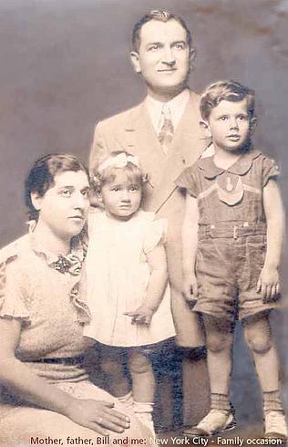 """Сын Джо-младший, дочь Катерина, Джо-старший и сын Сальваторе """"Билл"""""""