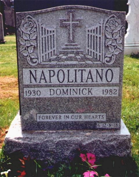 Могила Доминика Наполитано (Сонни Черного)