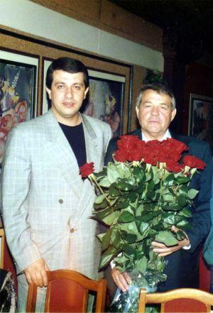 Криминальный авторитет Батон - Сергей Батозский с отцом