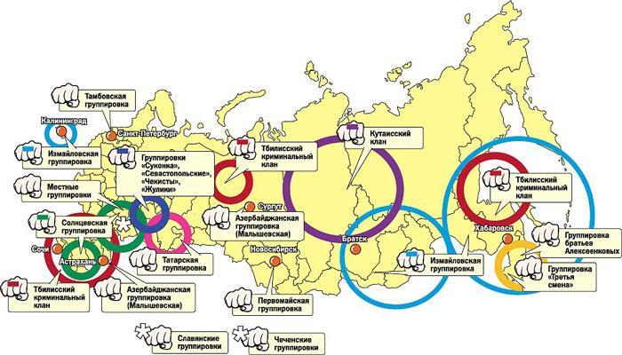 Карта криминальной России