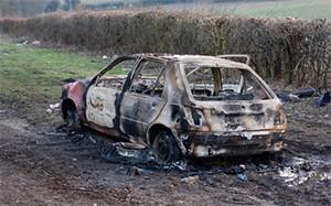 Бандиты сожгли тело своего лидера Василисы вместе с машиной