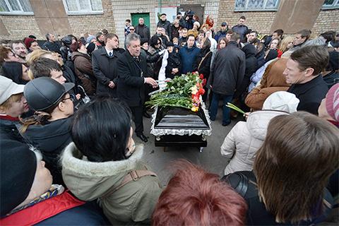 Похороны журналиста Олеся Бузины в Киеве