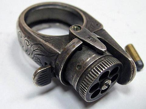 Кольцо револьвер (пистолет кольцо)