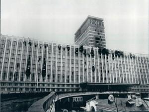 """Гостиница """"Россия"""" после пожара в 1977 году"""