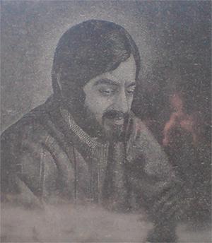 Изображение на памятнике бывшего вора в законе Юрия Лакобы