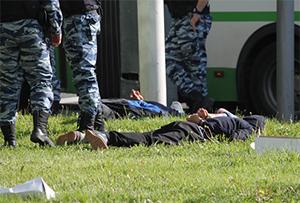 Задержание подозреваемых в убийстве полицейского