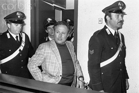 Лучано Леджо на суде 1976 г.