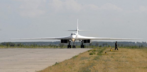 Сверхзвуковой стратегический бомбардировщик-ракетоносец Ту-160