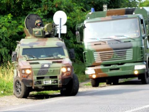 Обыск военными под Мукачево