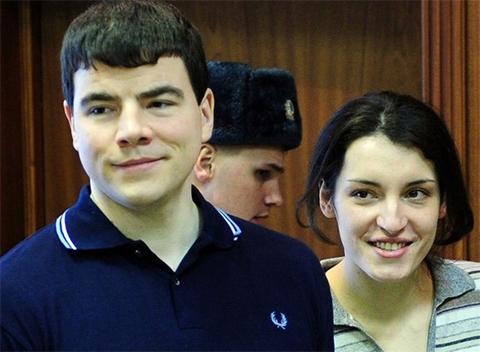 Никита Тихонов и его гражданская жена Евгения Хасис
