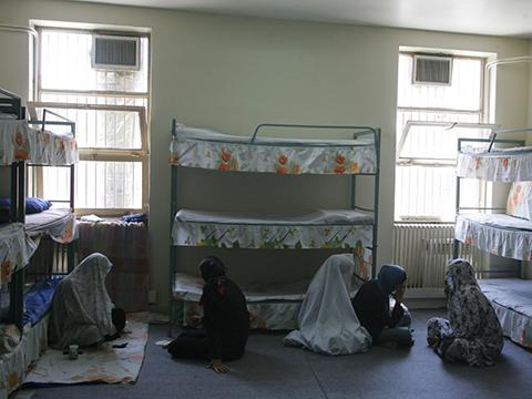 Иранские женщины-заключенные в своей камере