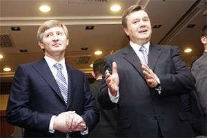 Слева: Ринат Ахметов, Виктор Янукович