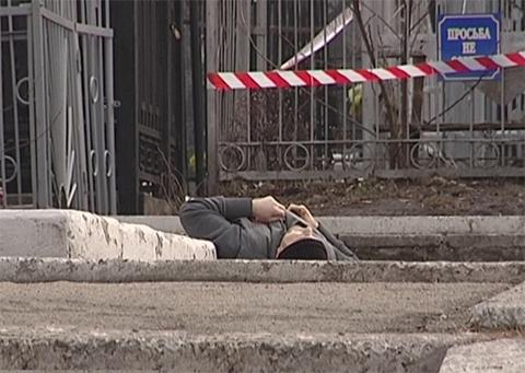 Фото с места убийства Юрия Димента